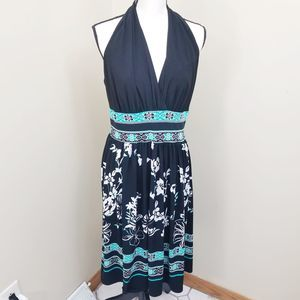 Evan Picone Turquoise Floral Dress Size 12